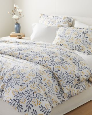 Winterberry Organic-Cotton Flannel Duvet Cover