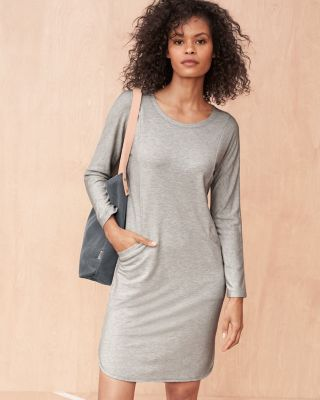 Pocket-Detail Knit Dress