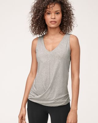Organic-Cotton Twist-Front Tank Top