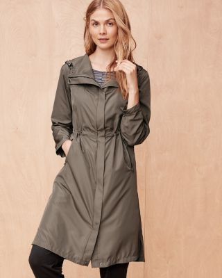 Long Cinched Trench Jacket