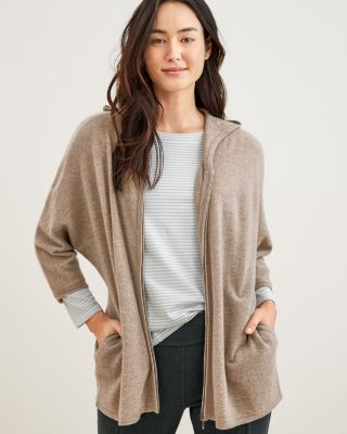 Zip-Front Cashmere Cardigan Sweater By Garnet Hill