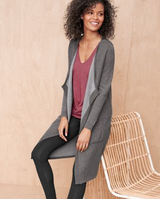 Reversible Long Cardigan Sweater