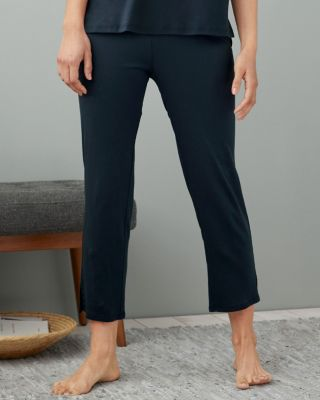 EILEEN FISHER Organic-Cotton Cropped Pajama Pants
