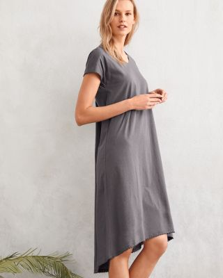 EILEEN FISHER Picot-Trim Knit Nightgown