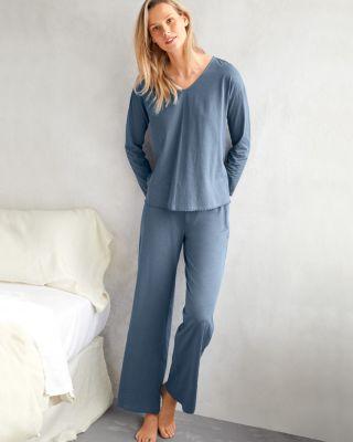 EILEEN FISHER Picot-Trim Knit Pajamas