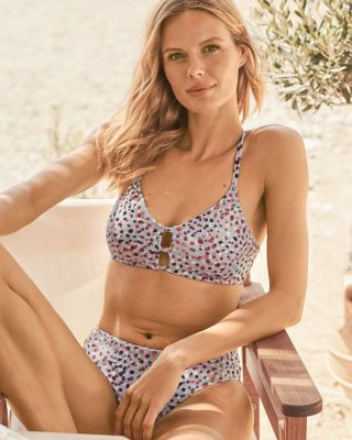 Garnet Hill Signature Lattice Bikini Top