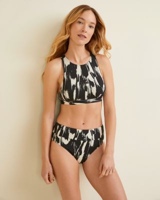 Garnet Hill Signature Active High-Neck Bikini Top