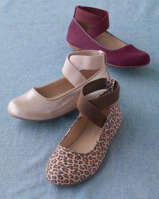 Kids' Elephantito Elastic-Ankle Ballet Flats