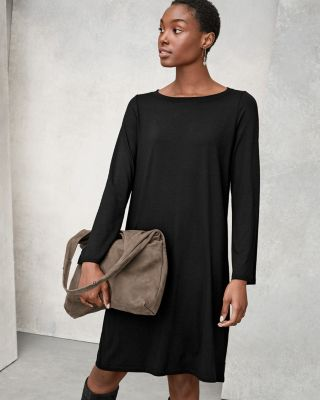 EILEEN FISHER TENCEL™-Jersey Bell-Sleeve Dress