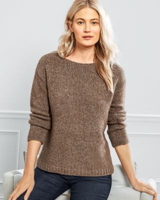 EILEEN FISHER Baby Alpaca & Organic Cotton Bateau-Neck