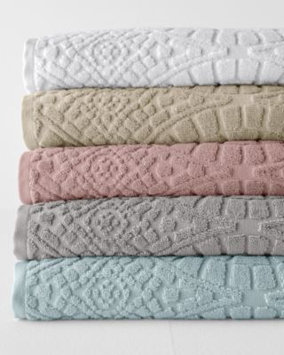 Organic-Cotton Sculpted Bath Towels By Garnet Hill