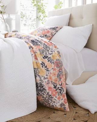 Meadow Floral Organic-Cotton Percale Duvet Cover