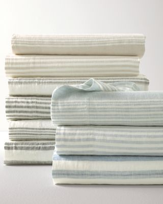 Linen Stripe Sheets by Garnet Hill