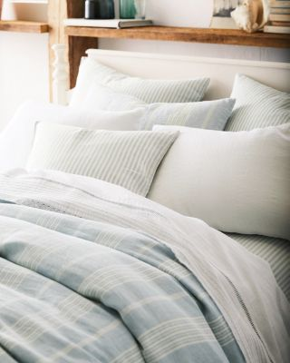 Stripe Relaxed-Linen Duvet Cover