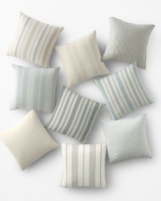 Stripe Relaxed-Linen Pillow Cover