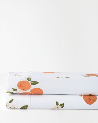 Clementine Organic-Cotton Percale Sheets By Garnet Hill