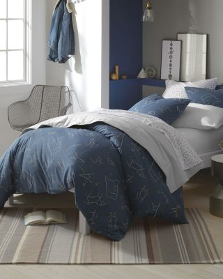 Constellations Jersey-Knit Duvet Cover