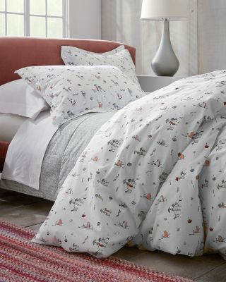 Windy Day Organic-Cotton Percale Duvet Cover