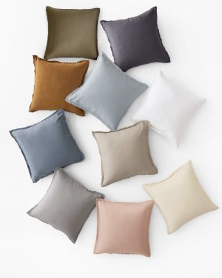 EILEEN FISHER Solid Washed-Linen Pillow Cover