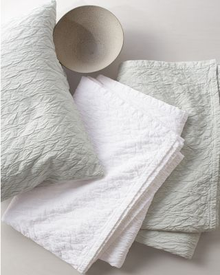 EILEEN FISHER Crinkle Organic-Cotton and TENCEL Coverlet