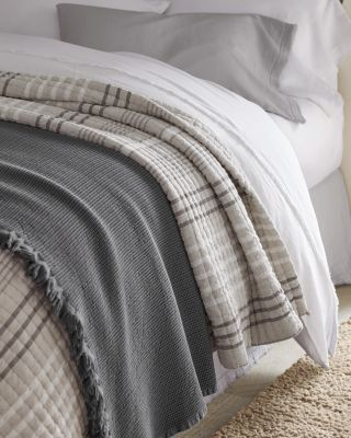 EILEEN FISHER Linen and Organic-Cotton Stripe Quilt