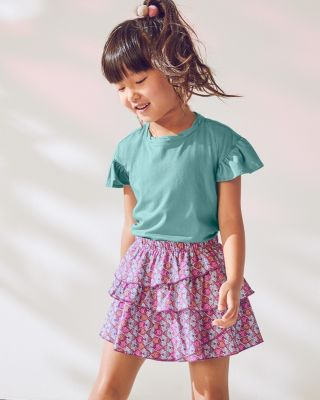 Girls' Printed Knit Skort