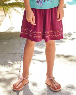 Girls' Smocked Knit Skirt