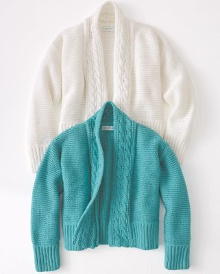 Girls' Best-Friend Organic-Cotton Cardigan Sweater