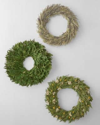Preserved Spring and Summer Wreath Collection