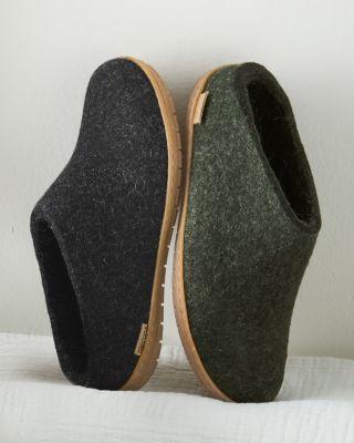Glerups Wool Mule with Rubber Bottom