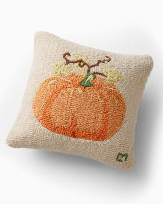 Hooked-Wool Perfect Pumpkin Pillow