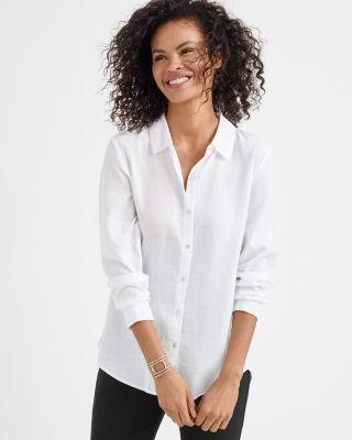 EILEEN FISHER Drapey TENCEL Collared Shirt