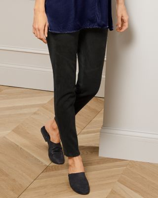 EILEEN FISHER Stretch Suede Leggings