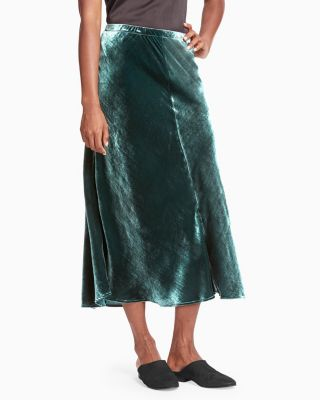 EILEEN FISHER Velvet Midi Skirt