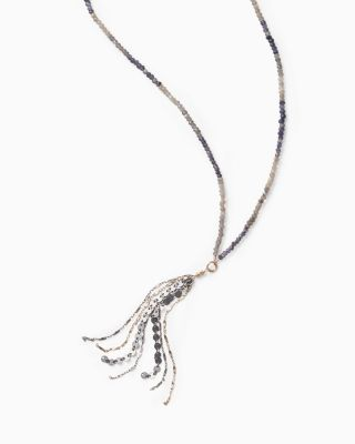 Robindira Unsworth Beaded Tassel Necklace