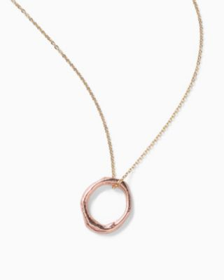 Robin Haley Rose-Gold Circle Necklace