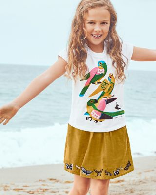 Girls' Storybook Embroidered Skirt