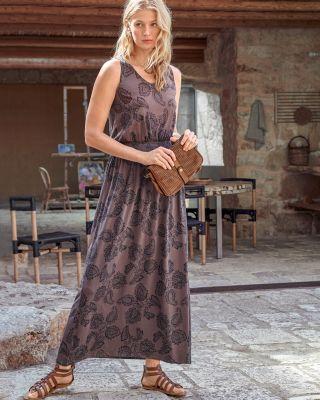 Smocked-Waist Maxi Dress