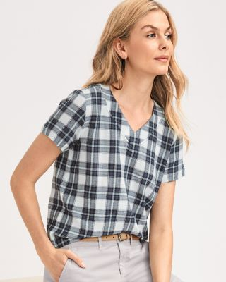 Cropped Boxy Organic-Cotton Gauze Shirt