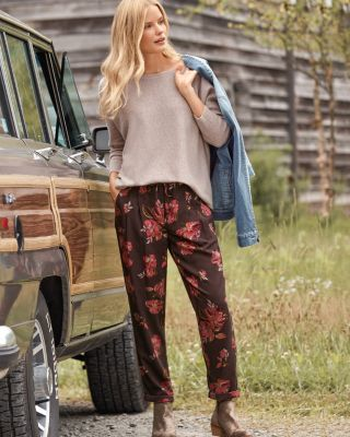 TENCEL Cropped Trousers