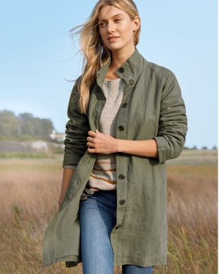 Women's Relaxed Linen Topcoat