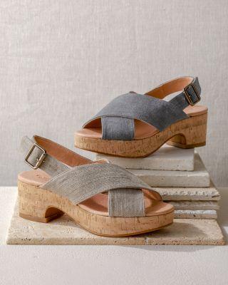 Eliana Crossover Cork Heels