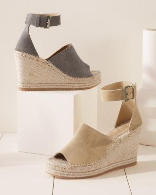 Violet Italian Espadrille Wedge Sandals