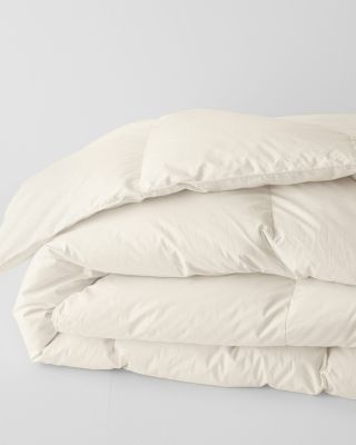 SAVE EILEEN FISHER Organic-Cotton White Goose Down Comforter