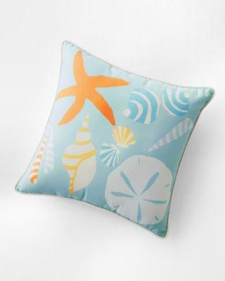 Hable Indoor-Outdoor Seashells Pillow