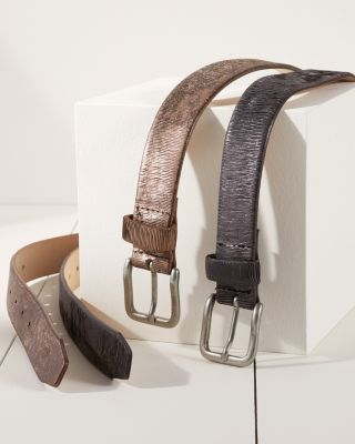 Amara Metallic Leather Belt