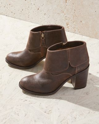 Trask Teri Fold-Over Ankle Boots
