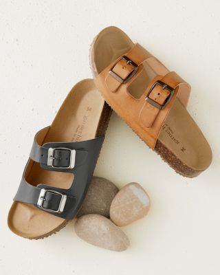 Boys' Double-Buckle Slide Sandals