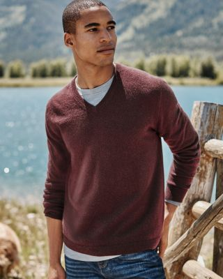 Men's Washable Cashmere V-Neck Sweater