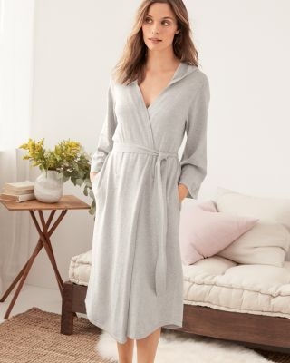 Cotton & Cashmere Hooded Robe